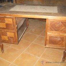 Antigüedades: MESA DE DESPACHO AÑOS 20 CON MARQUETERIA. PARA RESTAURAR.. Lote 26490643