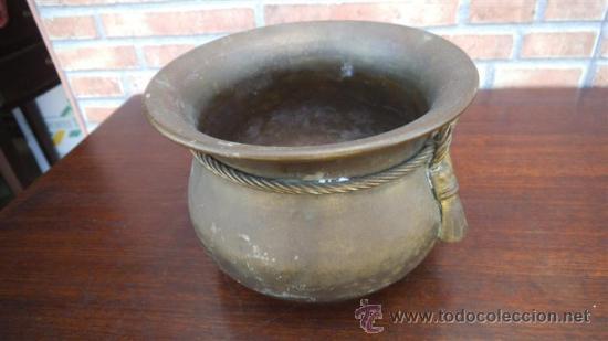 MACETON DE METAL (Antigüedades - Hogar y Decoración - Maceteros Antiguos)