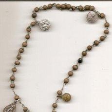 Antigüedades: ANTIGUO ROSARIO. PLATA. Lote 35689798