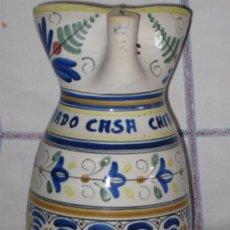 Antigüedades: TOLEDO - JARRA ANTIGUA EN CERAMICA VIDRIADA - CASA CHIRON -. Lote 35690577