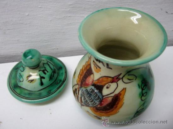 Antigüedades: Especiero Ceramica Puente Arzobispo Jose Fernandez - Sal - Foto 3 - 175950952
