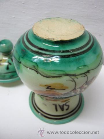 Antigüedades: Especiero Ceramica Puente Arzobispo Jose Fernandez - Sal - Foto 2 - 175950952