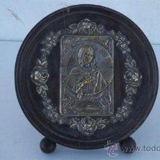 Antigüedades: CUADRO RELIGIOSO ALPÀCAR O PLATA. Lote 35698878