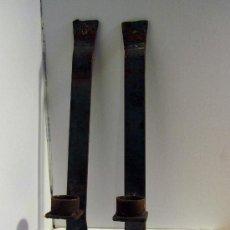 Antigüedades: PAREJA DE APLIQUES FORJADO A MANO. Lote 35718544