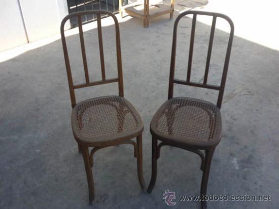 2 antiguas sillas de madera con asiento de mim comprar - Restauracion de sillas ...
