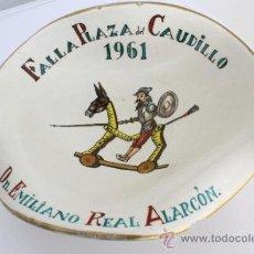 Antigüedades: PLATO DECORATIVO FALLA PLAZA DEL CAUDILLO 1961. Lote 35729060