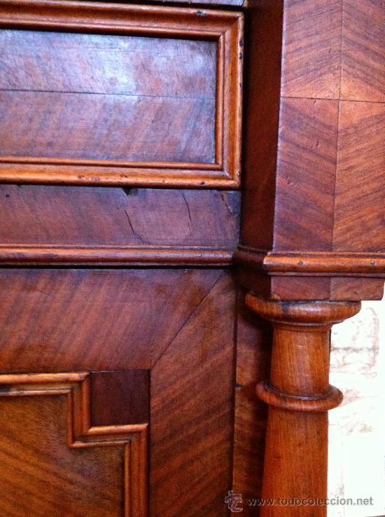 Antigüedades: Mueble tocador de madera noble con mármol circa 1850 - Foto 4 - 35730103