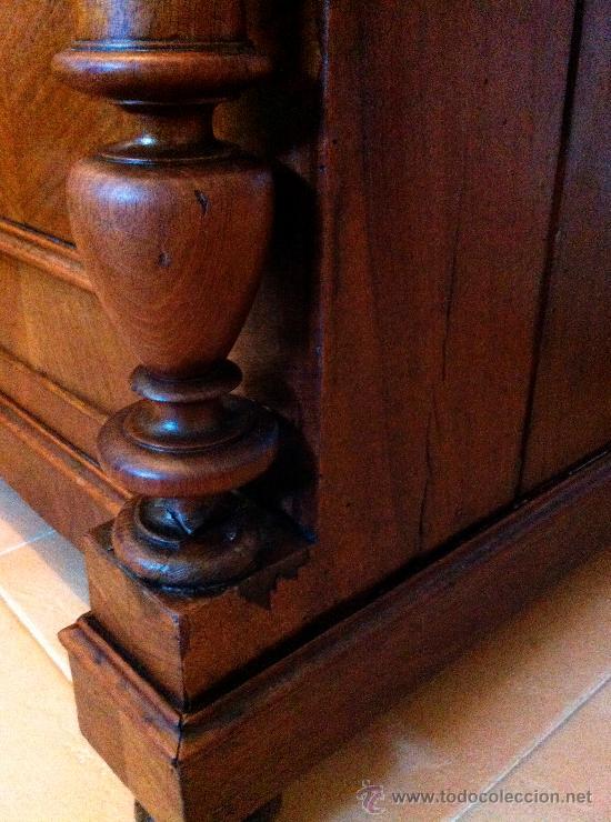 Antigüedades: Mueble tocador de madera noble con mármol circa 1850 - Foto 5 - 35730103