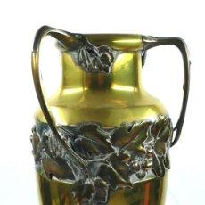 Antigüedades: JARRÓN DE METAL MODERNISTA, 48 CM DE ALTURA, . Lote 35735183
