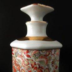 Antigüedades: BOTELLA LICORERA LIMOGES * PORCELANA FRANCESA. Lote 35736923