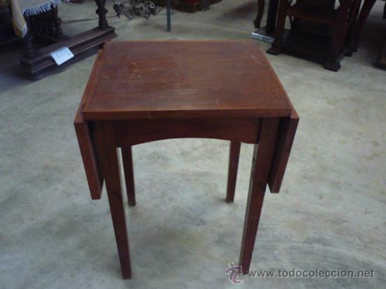 antigua mesa de madera de haya, ampliable por d - Kaufen Antike ...