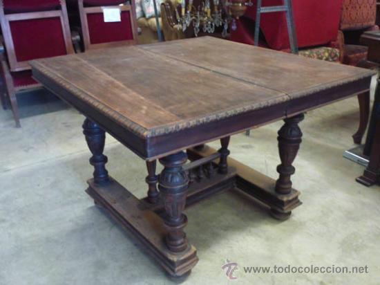 Antigua mesa de madera de nogal extensible, ide - Vendido en Venta ...
