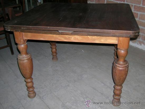 Antigüedades: Mesa madera nogal. Extensible - Foto 4 - 34298589