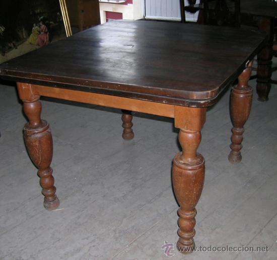 Antigüedades: Mesa madera nogal. Extensible - Foto 5 - 34298589