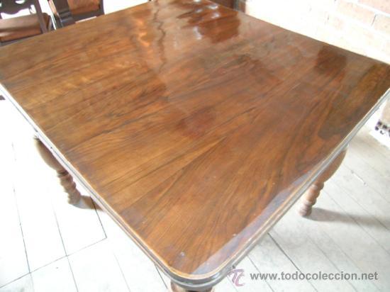 Antigüedades: Mesa madera nogal. Extensible - Foto 6 - 34298589