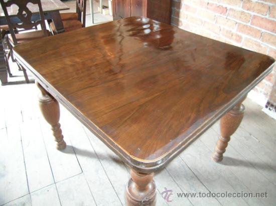 Antigüedades: Mesa madera nogal. Extensible - Foto 7 - 34298589