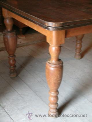 Antigüedades: Mesa madera nogal. Extensible - Foto 8 - 34298589