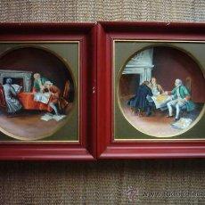 Antigüedades: ANTIGUOS PLATOS DE PORCELANA BONE CHINA PINTADOS A MANO. ROYAL RICK. GERMANY. 25 CM.. Lote 35759905