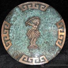 Antigüedades: INTERESANTE PLATO ESMALTADO Y DECORACIONES EN PLATA. CUZCO. PERU. Lote 36010176