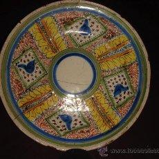 Antigüedades: PLATO HONDO DE CERAMICA DE MANISES. ORIGINAL Y MUY ANTIGUO. MULTICOLOR.. Lote 35782318