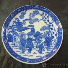 Antigüedades: PLATO CHINO AZUL. Lote 35910671
