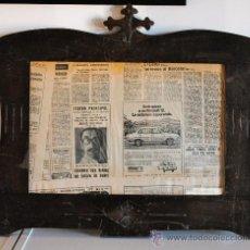 Antigüedades: MARCO DE SIGLO XIX CON CRUZ DE SANTIAGO. 65X55CM APROX. Lote 35789418