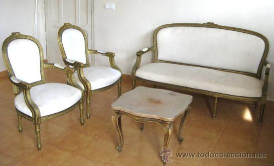 Sillas Y Sillones Antiguos.Gran Conjunto Antiguo Tresillo Silla Sillon Sil Sold At Auction