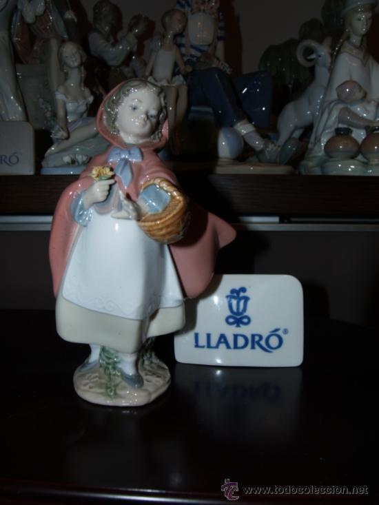 Antigüedades: PRECIOSA PORCELANA FINA DE LLADRO CAPERUCITA ROJA - Foto 2 - 35804726