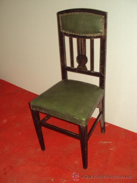 Antigüedades: Conjunto de 6 sillas modernistas art deco - Foto 2 - 35809983