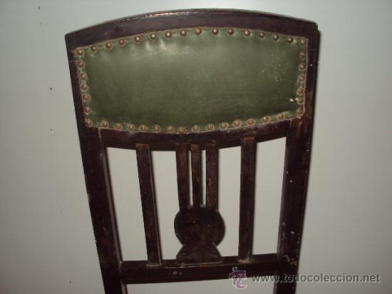 Antigüedades: Conjunto de 6 sillas modernistas art deco - Foto 3 - 35809983