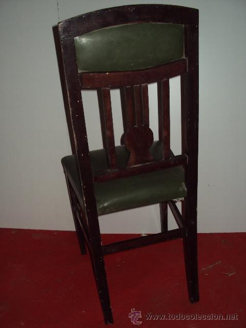 Antigüedades: Conjunto de 6 sillas modernistas art deco - Foto 4 - 35809983