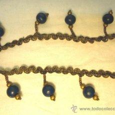 Antigüedades: GALON CON BORLAS DE MADERA. 1,40 METROS. Lote 35823808