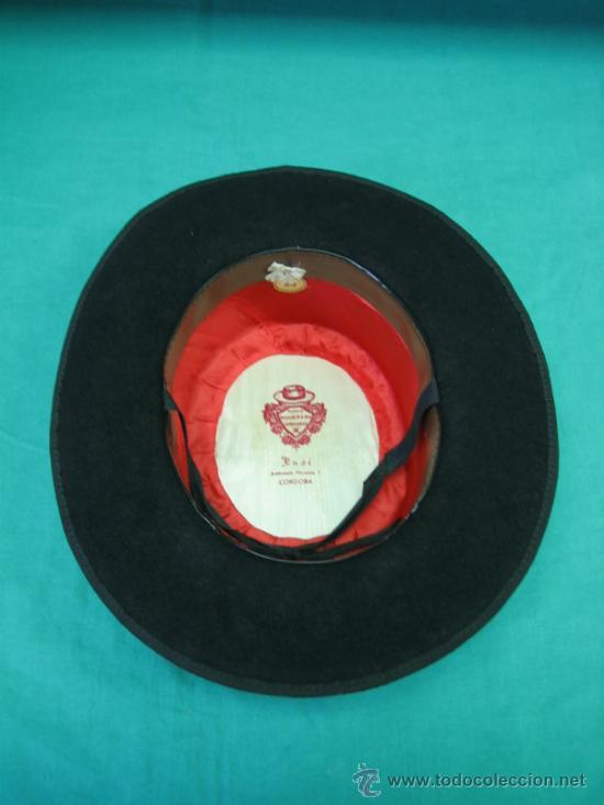 Antigüedades: Sombrero clasico Cordobes RUSI, Ambrosio Morales nº 1 Cordoba. Talla 55 - Foto 2 - 35832905