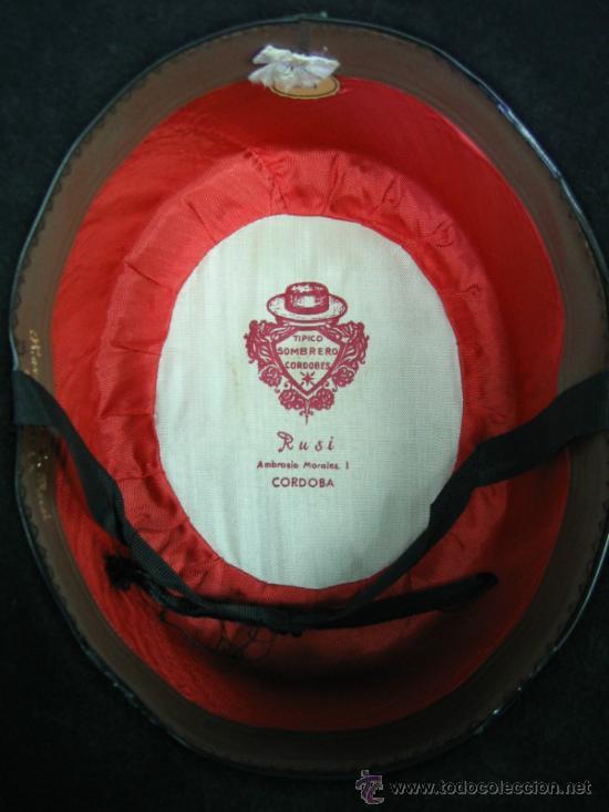 Antigüedades: Sombrero clasico Cordobes RUSI, Ambrosio Morales nº 1 Cordoba. Talla 55 - Foto 3 - 35832905