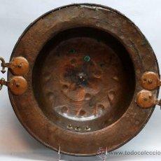 Antigüedades: BRASERO EN COBRE Y BRONCE S XVIII. Lote 35830706