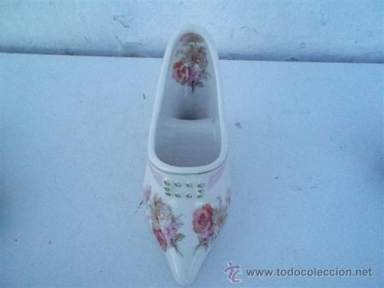 Antigüedades: florero de porcelana forma de zapato - Foto 2 - 35830849