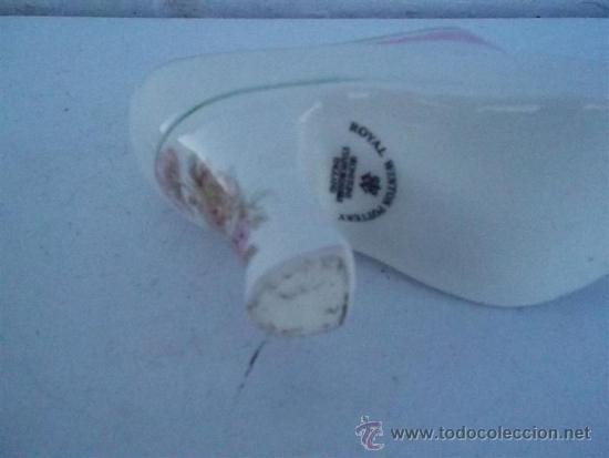 Antigüedades: florero de porcelana forma de zapato - Foto 3 - 35830849