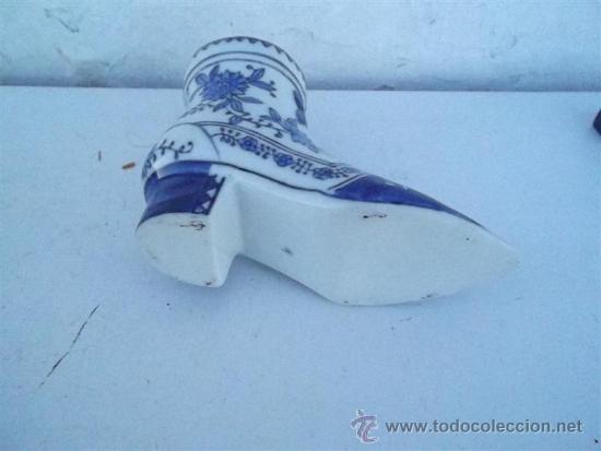 Antigüedades: florero de porcelana forma de zapato - Foto 3 - 35830873