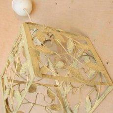 Oggetti Antichi: LAMPARA DE TECHO EN METAL. Lote 35833856
