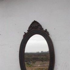 Antigüedades: ESPEJO ANTIGUO POLICROMADO. Lote 35835043