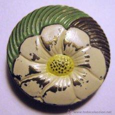 Antigüedades: PAREJA DE BOTONES ANTIGUOS. DIÁM. 2,5 CM. MARCA: TCHECO SLOVA? GUIB. Lote 35840854