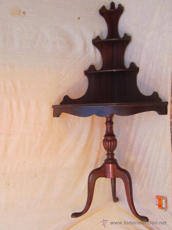 Antigüedades: MESA RINCONERA EN MADERA - Foto 10 - 57077519
