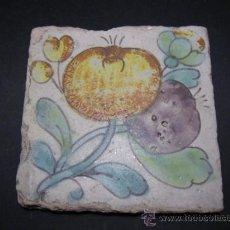 Antigüedades: ANTIGUA CERAMICA DE MANISES, AZULEJO SG VIII. RACHOLA - ZOCALO. GRANADAS.. Lote 35861047