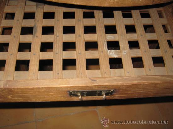 Antigüedades: Mesa rustica en madera de castaño, con base para brasero y cajón auxiliar. - Foto 3 - 26426510