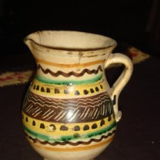 Antigüedades: ANTIQUISIMA JARRA MEDIANA. CERAMICA PUENTE DEL ARZOBISPO. ORIGINAL DECORADO.. Lote 35878975