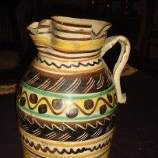 Antigüedades: ANTIQUISIMA JARRA GRANDE. CERAMICA PUENTE DEL ARZOBISPO. ORIGINAL DECORADO.. Lote 35879377