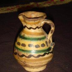 Antigüedades: BONITA Y ANTIQUISIMA JARRA PEQUEÑA. CERAMICA PUENTE DEL ARZOBISPO. ORIGINAL DECORADO.. Lote 35879465
