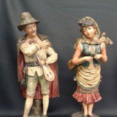 Antigüedades: PAREJA DE MÚSICOS. CERÁMICA. CENTROEUROPEOS. SIGLOS XIX-XX.. Lote 35890310