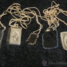 Antigüedades: LOTE ANTIGUOS ESCAPULARIOS. Lote 36005010