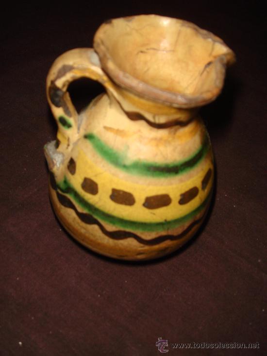 Antigüedades: BONITA Y ANTIQUISIMA JARRA PEQUEÑA. CERAMICA PUENTE DEL ARZOBISPO. ORIGINAL DECORADO. - Foto 7 - 35879465